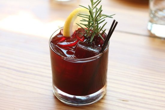 Our delicious Mighty Quinn cocktail!