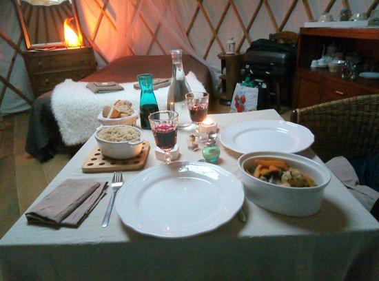 Arbas, ฝรั่งเศส: Navarin d'agneaux et riz parfumé