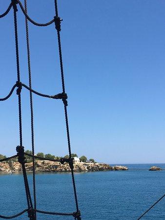 Kreta Karte Stalis.5 Hour Crete Pirate Ship Cruise Sissi Malia And Stalis Bild Von