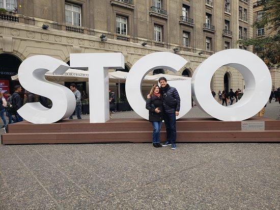 Plaza de Armas: Me and my guy enjoying Santiago Chile!