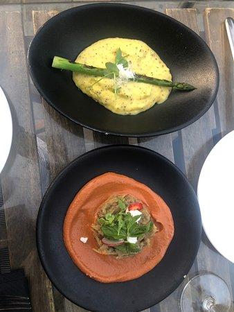 El Vecino: Polenta (top photo) and Eggplant (bottom photo)