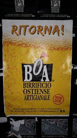 Ritorna ! BOA - Birrificio Ostiense Artigianale nella Nuova sede di Via della Marina, 57 Ostia (Roma) 00122