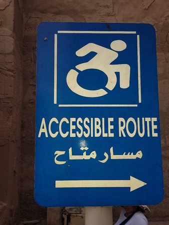 wheelchair accessible at open air museum in Luxor