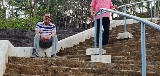 Bantwal, India: A tiring climbing up the steps
