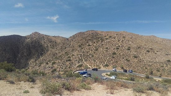 Looking down on Keys View parking area