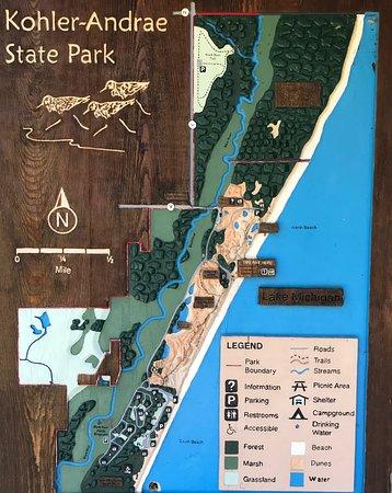 The Dunes Boardwalk (aka cordwalk) at Kohler-Andre State Park ... on peninsula state park, temperance river state park, starved rock state park, governor nelson state park, kohler andrea state park, kohler dune state park, hawn state park, wisconsin point beach state park, kettle moraine state park, terry andrae state park, mill bluff state park, rock island state park, new glarus woods state park, belgium state park,