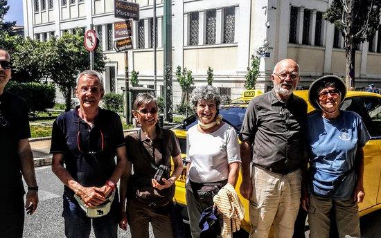 Athenes en taxi