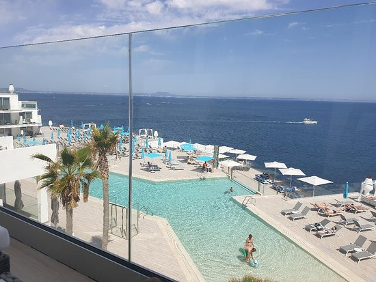 Beautiful views of the open sea from the balcony