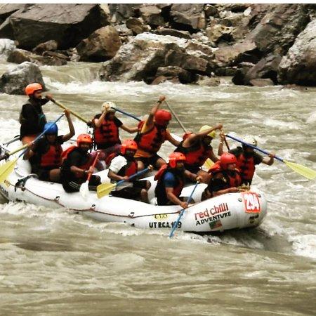 Rafting in Rishikesh- 16km: at roller coaster