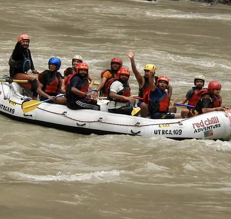 Rafting in Rishikesh- 16km: end of journey