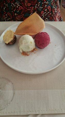 Dessert: homemade sorbets