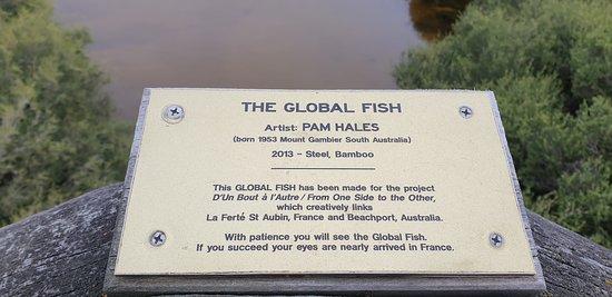 Beachport Centennial Park and Lagoon  sculpture plaque
