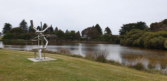 Beachport Centennial Park and Lagoon  lagoon and sculpture