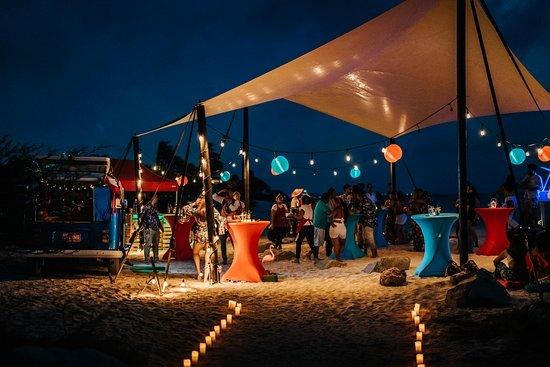 beach party set-up Arashi beach