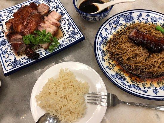 Nice roast duck, char siew and roast pork
