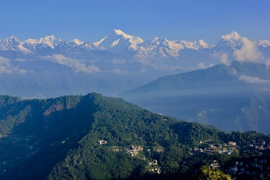 View of Kanchenjunga Range from Hanuman Tok (20min taxi ride  from the hotel at 7200ft)