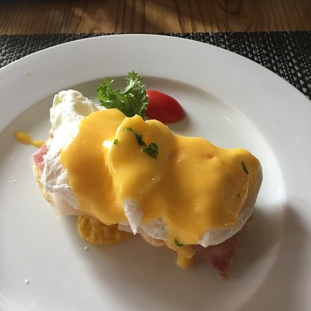 Egg Benedict is delicious.
