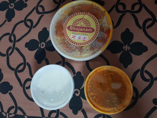 Bhojanam Multi Cuisine Restaurant-KPHB: Bhojanam Delivery Pack with the accompaniments