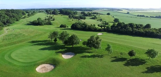 Blandford Forum, UK: Overhead view of the course from the 7th Hole