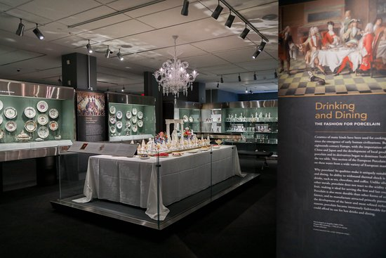 Gardiner Museum: Recreated 18th-century dessert table in the European Porcelain Galleries on the second floor.