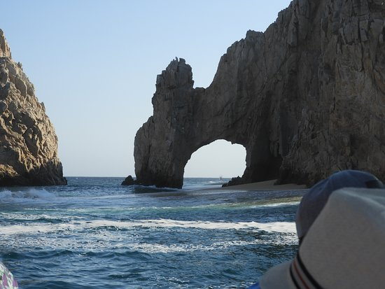 Los Cabos Luxury Sunset Sail: El Arco from the bay side.