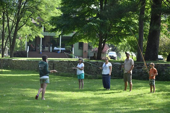 Casting Lessons in the Lawn