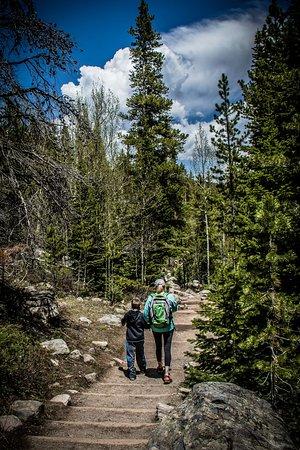 Alberta Falls: Trail from Alberta Falls to the Gorge
