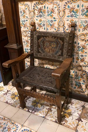 Chair and tile work