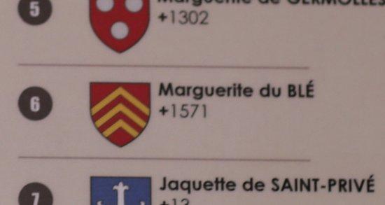 Dalle funéraire de Marguerite du Blé