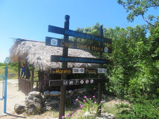 Voici l'entrée pour la plage, il en coûte 4 pesos pour y accéder.