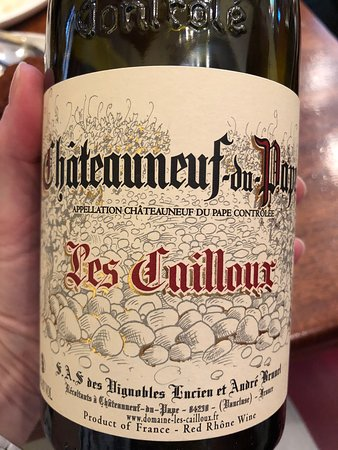 Great Chateauneuf-du-Paup by the glass or bottle.