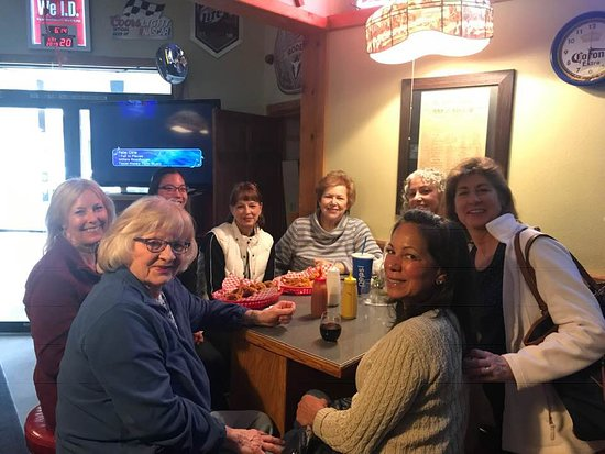 Fortine, MT: A group of locals meets on Mondy nights for some burgers and beer. Good food, great folks, and good service!