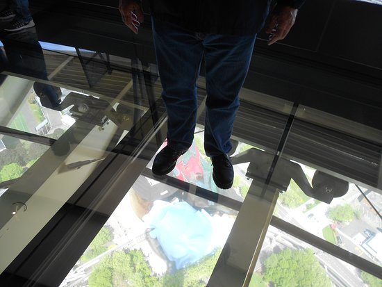 Skip the Line: Seattle Space Needle Observation Deck Admission Ticket: You can walk anywhere on the glass floor.