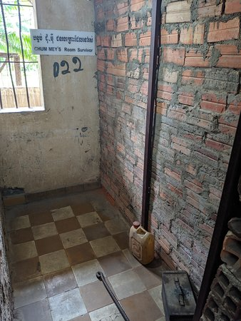 Tuol Sleng Genocide Museum: One of cells where a survivor was kept