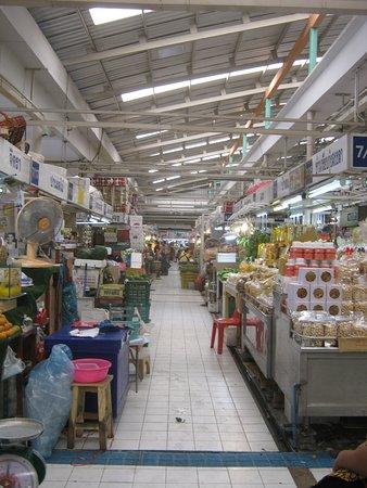 Walkway in market