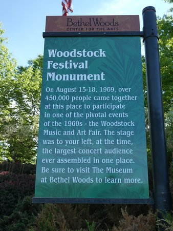 Museum at Bethel Woods Ticket: Monument banner