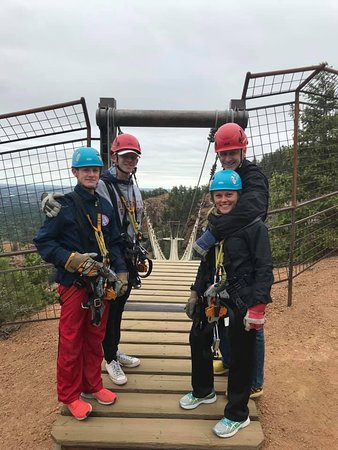 Fins Course Scenic Zipline Tour: Right before the rope bridges.