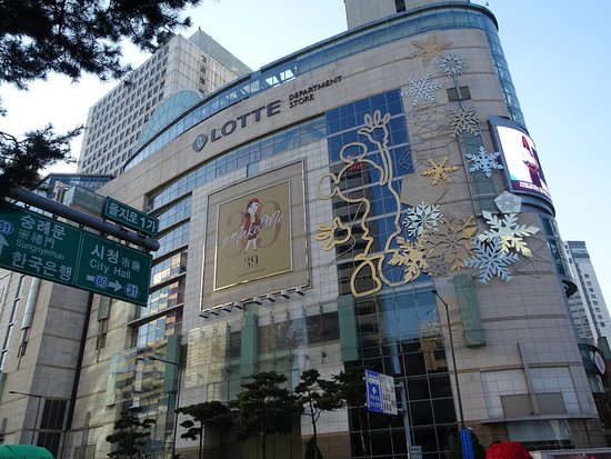 Facade of Lotte Department Store