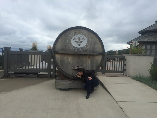 Chateau Chantal Winery and Inn: one large barrel of vine !