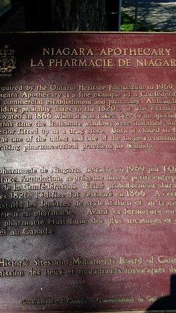 Niagara Apothecary Museum: Info board