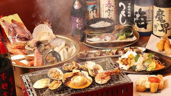 日進駅から徒歩30秒日間賀島直送の大あさりが名物!!当日飲み放題有!! 当店では、漁師さんが漁に出た日に買いつけに行っているため、どこよりも新鮮で、おいしい魚貝類が堪能できます。又、日間賀島だけではなく、全国の漁港から仕入れているため、珍しいお魚、貝類を取り扱っています