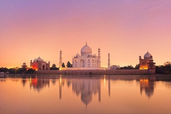 Taj Mahal Sunrise & Agra Fort Tur med...