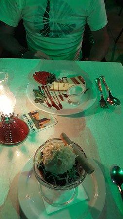 Kirsch Soaked Cherries and Ice Cream - Cheesecake