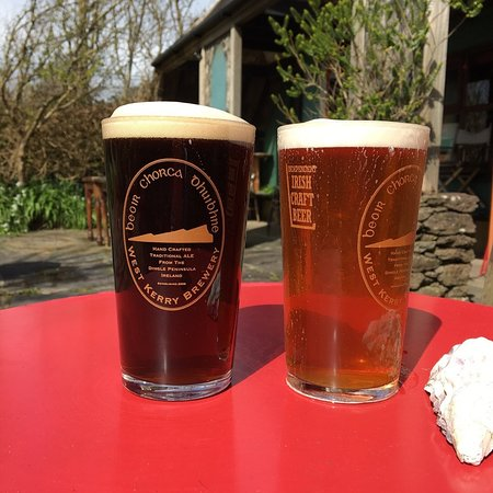 Our branded beer glasses with the Independent Irish beer logo