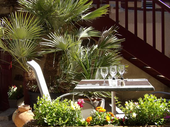 Le Pont Saint Etienne: terrasse côté jardin