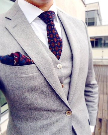 solid gray wool
