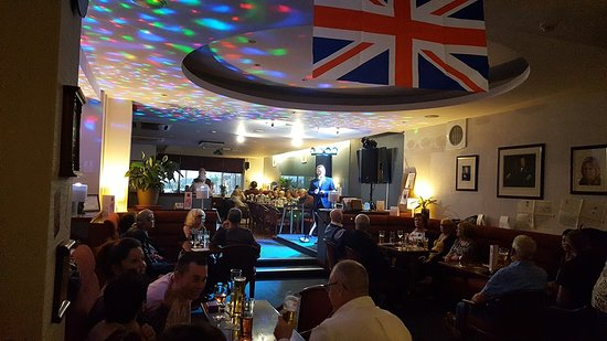 One of our recent Monthly Entertainment Events featuring the fabulous Joseph O'Brien.  It was also D-Day Weekend so  Club Steward Scott decorated the Club with War Memorabilia.