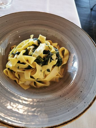 La Terrazza: pappardelle agli spinaci