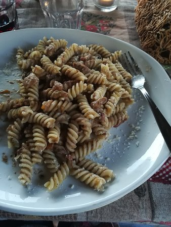 Fusilli with donkey meat sauce