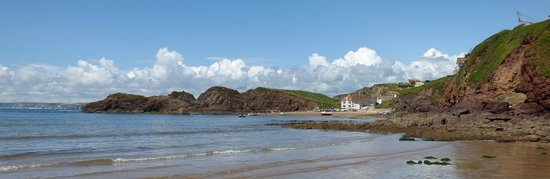 Hope Cove, UK: A view from the dog friendly beach at Inner Hope.